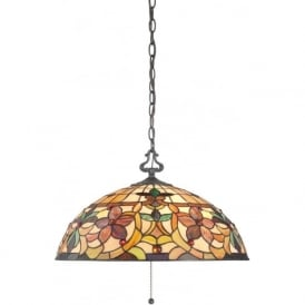 KAMI Art Nouveau style Tiffany glass hanging ceiling pendant light