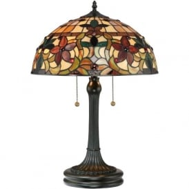 KAMI Art Nouveau Tiffany stained glass table lamp