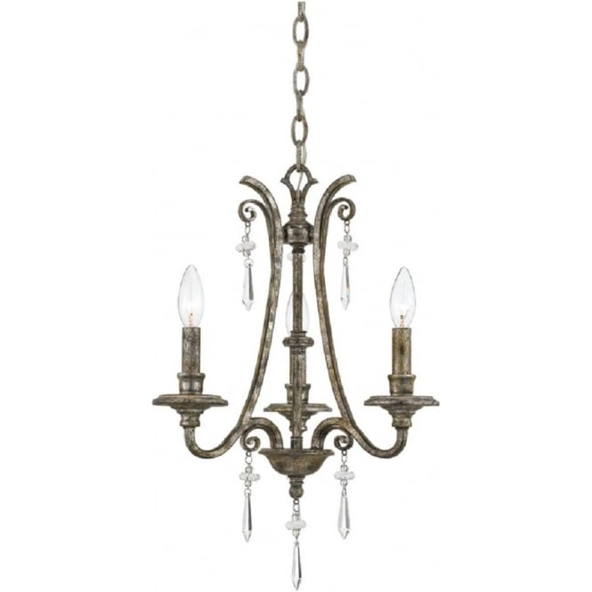 Broadway American Collection KENDRA 3 light classic modern chandelier for high ceilings