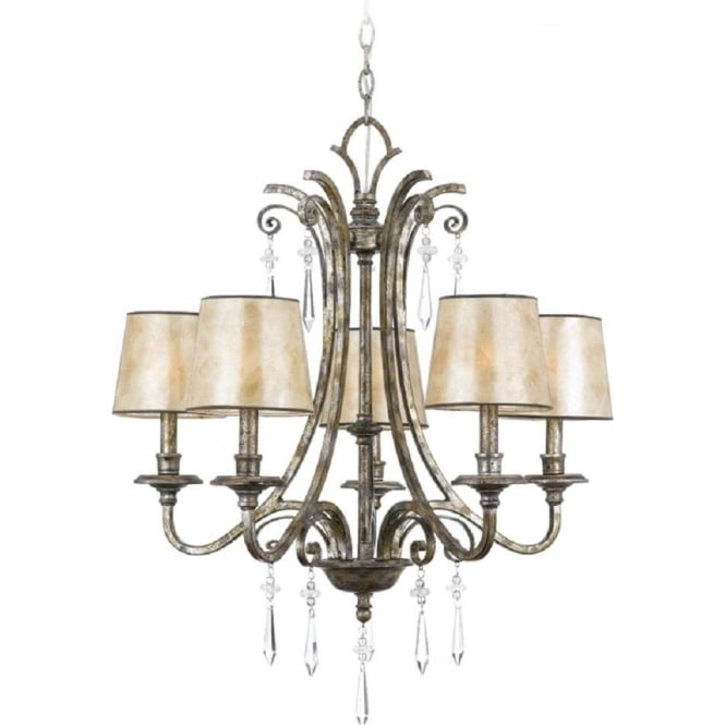 Broadway American Collection KENDRA 5 light classic modern chandelier for high ceilings