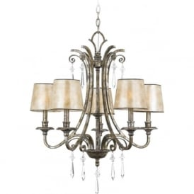 KENDRA 5 light classic modern chandelier for high ceilings