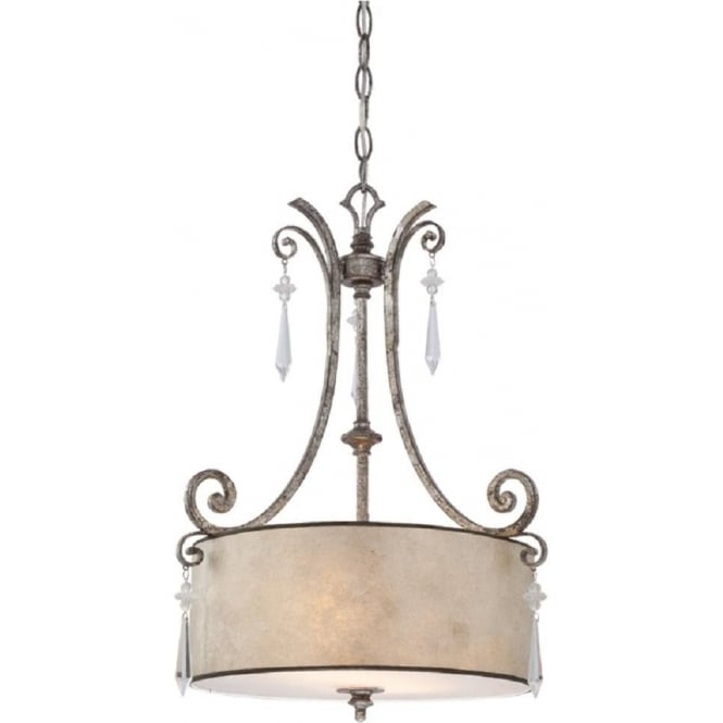Broadway American Collection KENDRA hanging drum shade ceiling pendant light