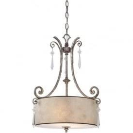 KENDRA hanging drum shade ceiling pendant light