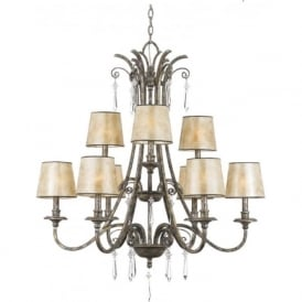 KENDRA large 9 light classic modern chandelier for high ceilings