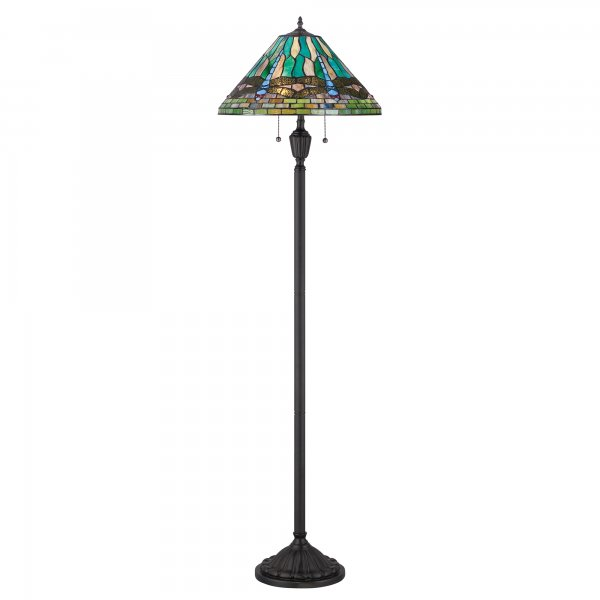 collection king tiffany dragonfly pattern stained glass standard lamp. Black Bedroom Furniture Sets. Home Design Ideas