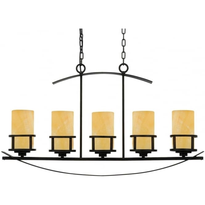 Broadway American Collection KYLE rustic chic kitchen island bar pendant suspension with 5 lights