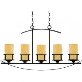 KYLE rustic chic kitchen island bar pendant suspension with 5 lights