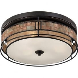 LAGUNA flush mounted ceiling light with mosaic detail - large