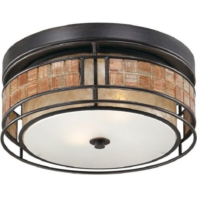 Broadway American Collection LAGUNA flush mounted ceiling light with mosaic detail - small