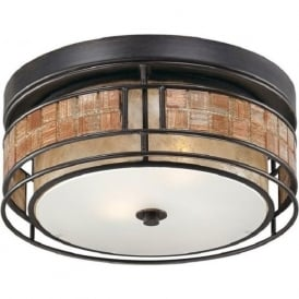 LAGUNA flush mounted ceiling light with mosaic detail - small