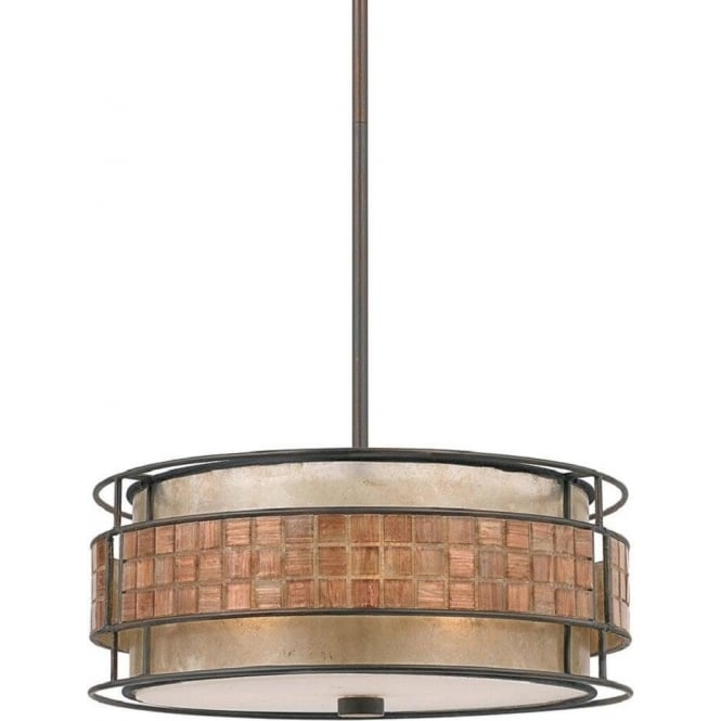 Broadway American Collection LAGUNA hanging ceiling pendant light with mosaic detail