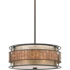 LAGUNA hanging ceiling pendant light with mosaic detail