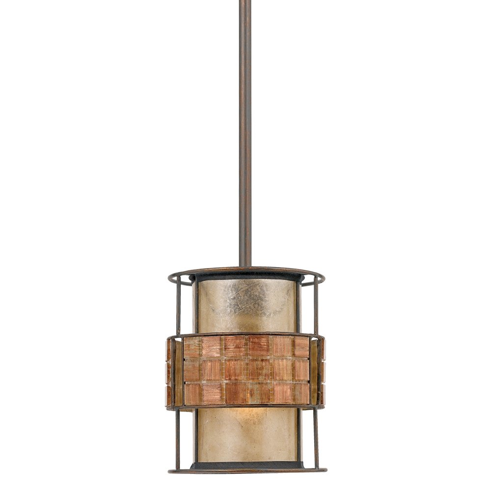 Mini Copper Ceiling Pendant Light Mosaic Pattern On Taupe