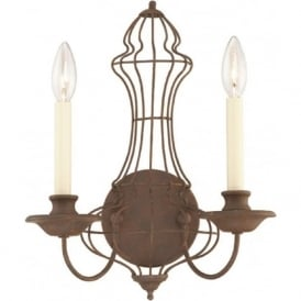 LAILA antique rustic bronze wall sconce
