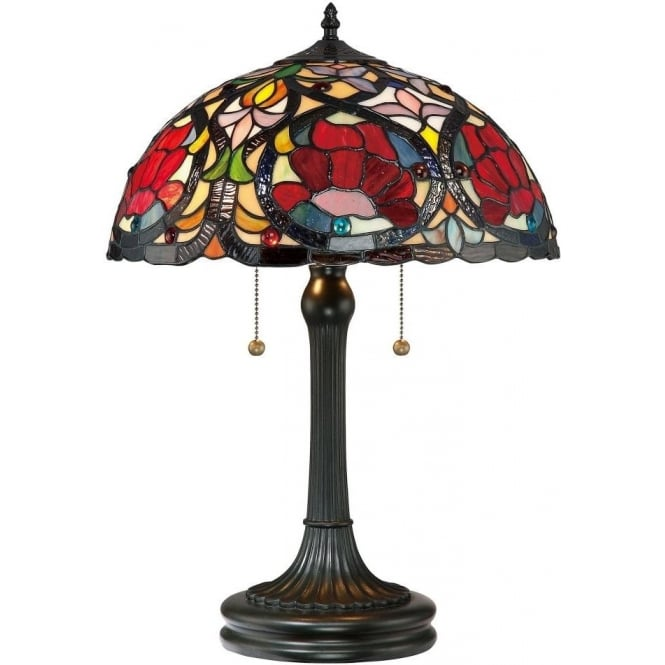 Broadway American Collection LARISSA Art Nouveau floral design Tiffany table lamp