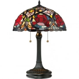 LARISSA Art Nouveau floral design Tiffany table lamp