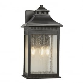 LIVINGSTON traditional bronze wall lantern for outdoor coastal areas - large