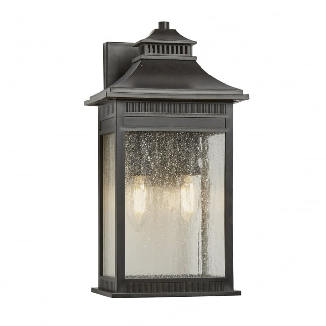 Broadway American Collection LIVINGSTON traditional bronze wall lantern for outdoor coastal areas - medium