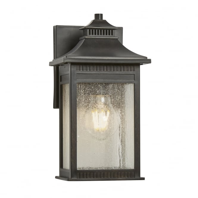 Broadway American Collection LIVINGSTON traditional bronze wall lantern for outdoor coastal areas - small