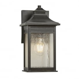 LIVINGSTON traditional bronze wall lantern for outdoor coastal areas - small