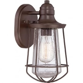 MARINE IP44 exterior bronze wall lantern - small