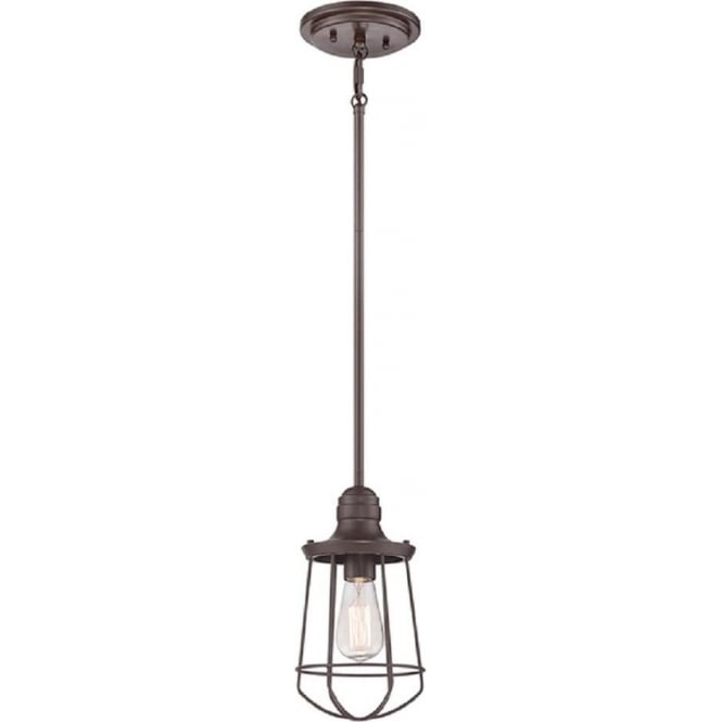 Broadway American Collection MARINE traditional bronze hanging pendant for sloping ceilings