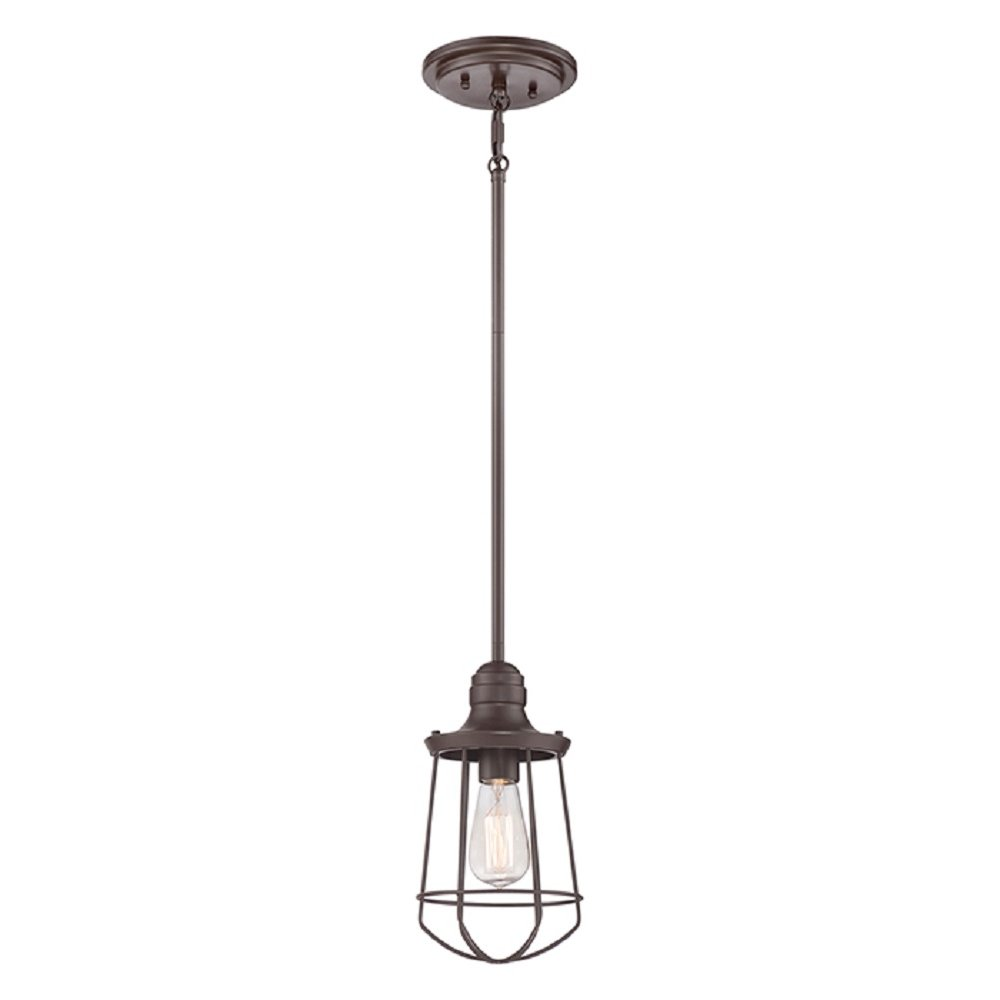 Dark Bronze Nautical Style Ceiling Pendant Light For Sloped Ceilings