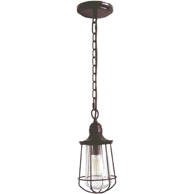 Broadway American Collection MARINE traditional bronze hanging porch lantern - small