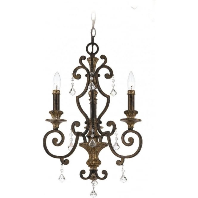 Broadway American Collection MARQUETTE French heirloom finish chandelier for high ceilings