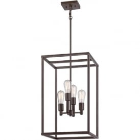 NEW HARBOUR rectangular hanging ceiling pendant light for sloping ceilings