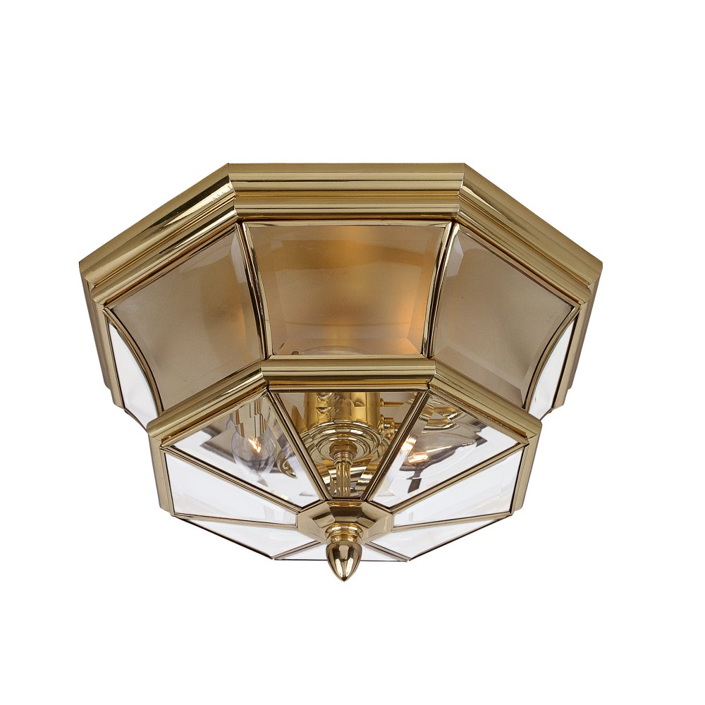 Flush Fitting Gold Ceiling Light for Indoor, Outdoor or ...