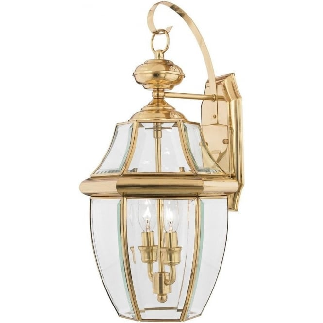 Broadway American Collection NEWBURY traditional solid brass garden wall lantern - large