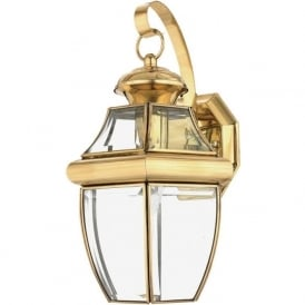 NEWBURY traditional solid brass garden wall lantern - medium