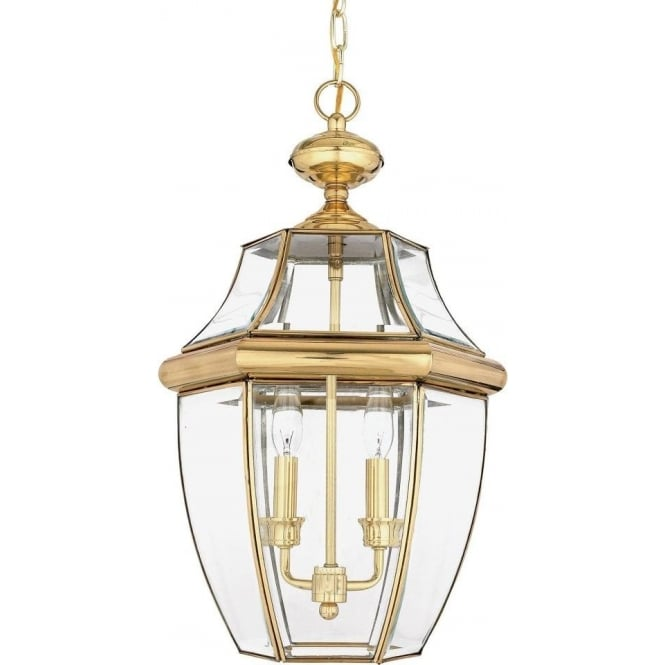 Broadway American Collection NEWBURY traditional solid brass hanging porch lantern