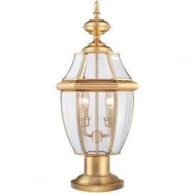NEWBURY traditional solid brass pedestal or gate post lantern