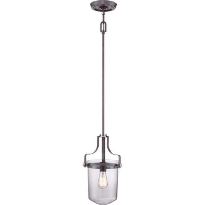 Broadway American Collection PENN STATION mini ceiling pendant or lantern - bronze
