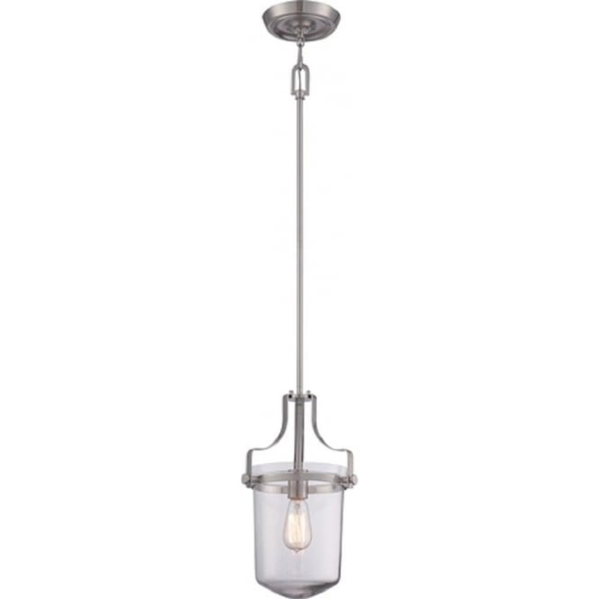 Broadway American Collection PENN STATION mini ceiling pendant or lantern - brushed nickel