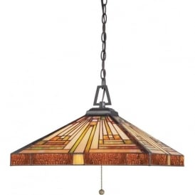STEPHEN Art Deco style Tiffany glass ceiling pendant light