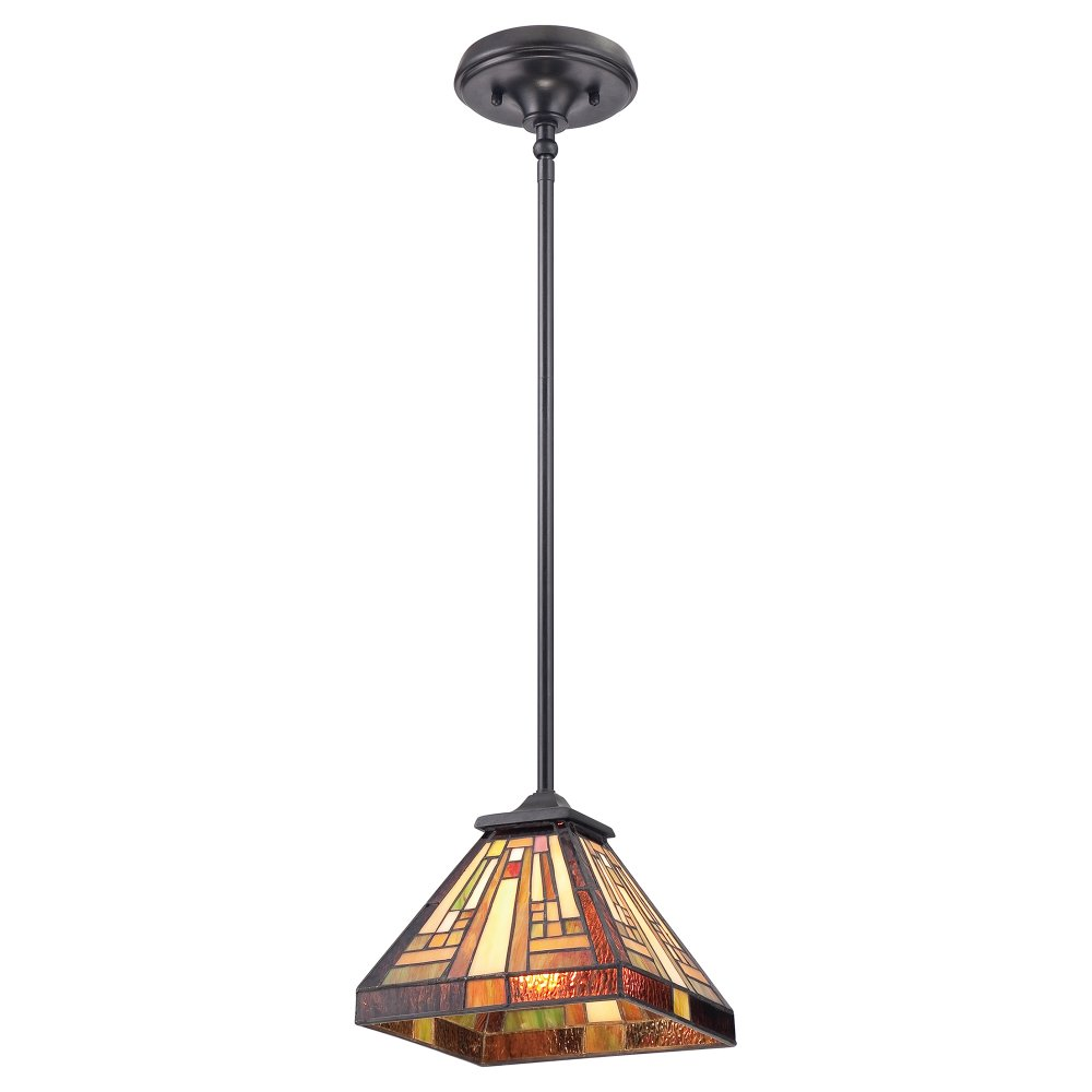 Small Tiffany Hanging Ceiling Pendant Light with Deco Art ...