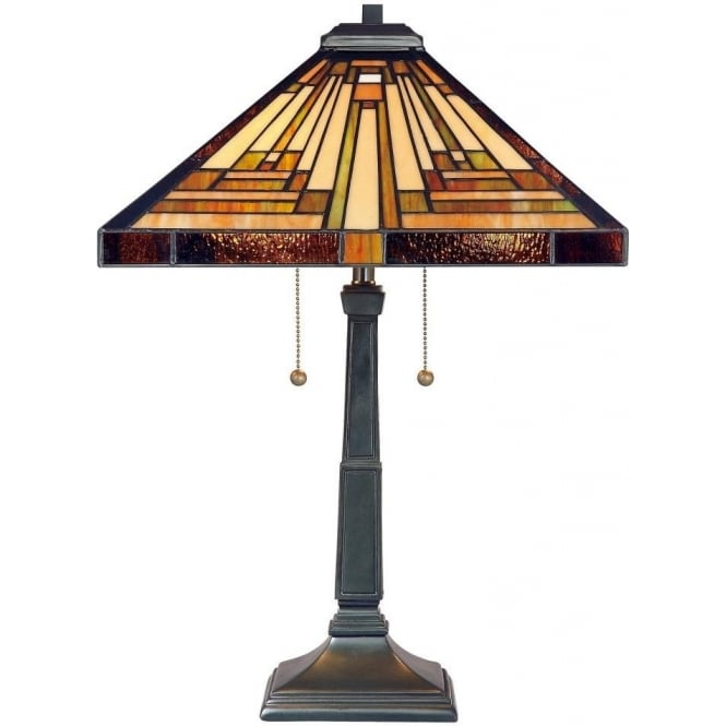 Broadway American Collection STEPHEN Art Deco style Tiffany glass table lamp