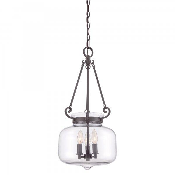 inverted glass bowl pendant light for high ceilings bronze frame. Black Bedroom Furniture Sets. Home Design Ideas