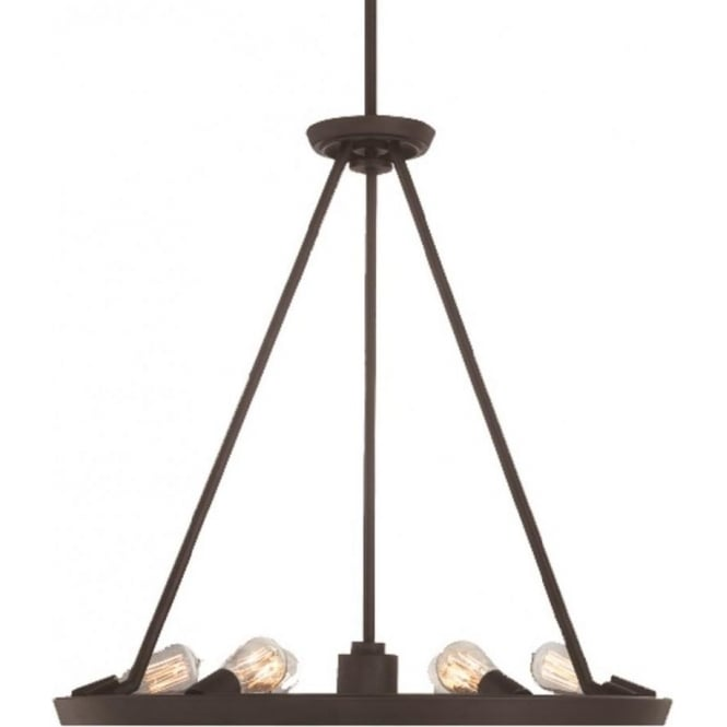 Broadway American Collection THEATER ROW circular hanging ceiling pendant light - bronze