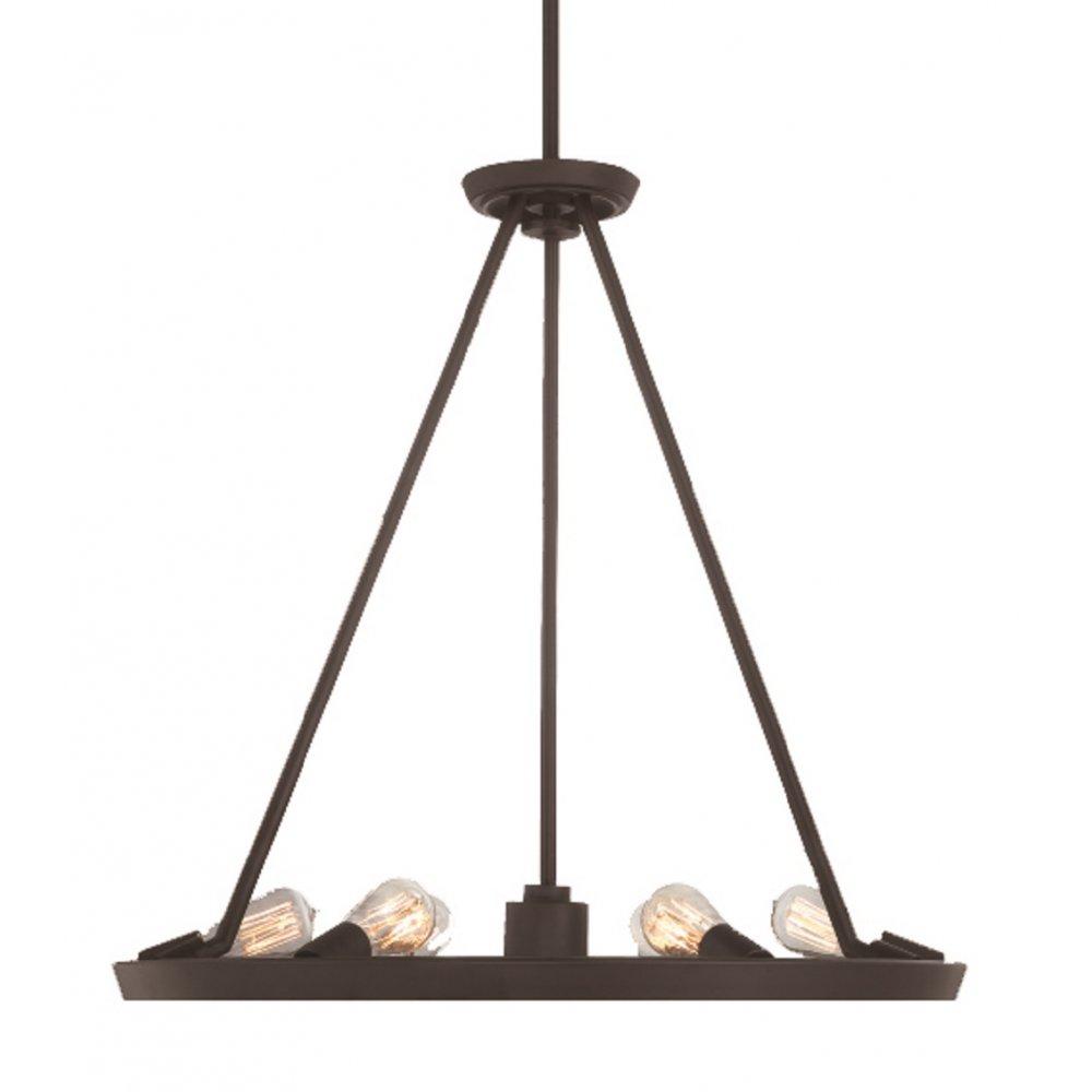 Unusual modern hoop pendant light in dark bronze with for American classic lighting