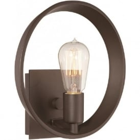 THEATER ROW modern bronze circular wall light