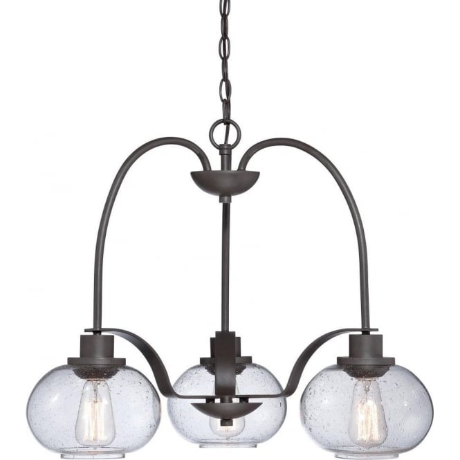 Broadway American Collection TRILOGY vintage style 3 light bronze ceiling pendant