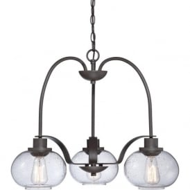 TRILOGY vintage style 3 light bronze ceiling pendant
