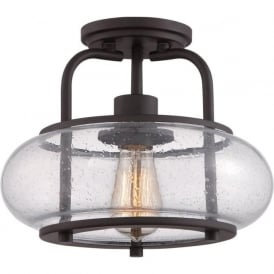 TRILOGY vintage style bronze semi-flush ceiling light