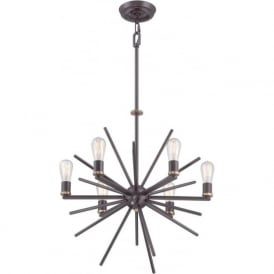 UPTOWN CARNEGIE contemporary 6 light chandelier in dark bronze  sc 1 st  Bespoke Lights & Ceiling Hanging Lights Broadway American Collection Conservatory ... azcodes.com