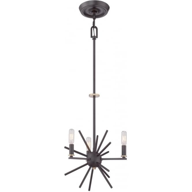 Modern Ceiling Pendant Chandelier In Dark Bronze With