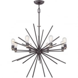 UPTOWN CARNEGIE modern 8 light chandelier in dark bronze  sc 1 st  Bespoke Lights & Ceiling Hanging Lights Broadway American Collection Conservatory ... azcodes.com